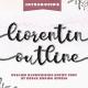 Liorentin Outline - Outline Script Font - GraphicRiver Item for Sale