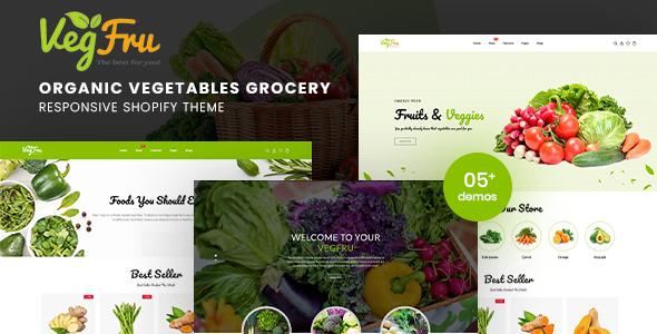Vegfru – Organic Vegetables eCommerce Shopify Theme, Gobase64