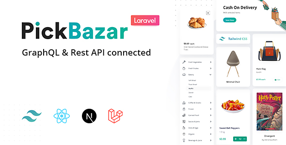 Pickbazar Laravel - React, Next, REST & GraphQL Ecommerce