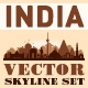 City Skyline Set. India. Vector Silhouettes - GraphicRiver Item for Sale