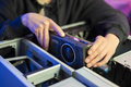 Close-up of Gamer Girl Installing New GPU Video Card in Her Gaming PC - PhotoDune Item for Sale