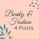 Beauty and Fashion Social Media Posts - GraphicRiver Item for Sale