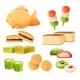Japanese Sweets Cartoon Set Street Japan Snacks - GraphicRiver Item for Sale