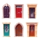 Wooden Doors Medieval and Modern Entries Set - GraphicRiver Item for Sale