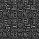 Chat Time Chalk Drawings Seamless Pattern. - GraphicRiver Item for Sale