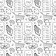 Shopping Hand Drawn Doodle Vector Seamless Pattern. - GraphicRiver Item for Sale