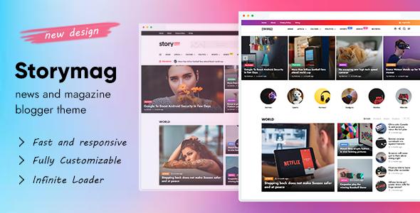 Story Mag – News Magazine Blogger Theme, Gobase64