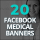 20 Facebook Medical Healthcare Banners - GraphicRiver Item for Sale