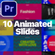 10 Animated Slides - MOGRT for Premiere Pro - VideoHive Item for Sale