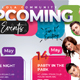 Upcoming Events Flyer Templates - GraphicRiver Item for Sale