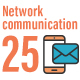 25 Business Network Communication Flat Icon - GraphicRiver Item for Sale
