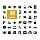 38 Hotel vector flat glyph icon set - GraphicRiver Item for Sale