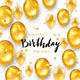 Golden Birthday Balloons on White Holiday Background - GraphicRiver Item for Sale