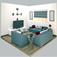 Living Room  low poly - 3DOcean Item for Sale