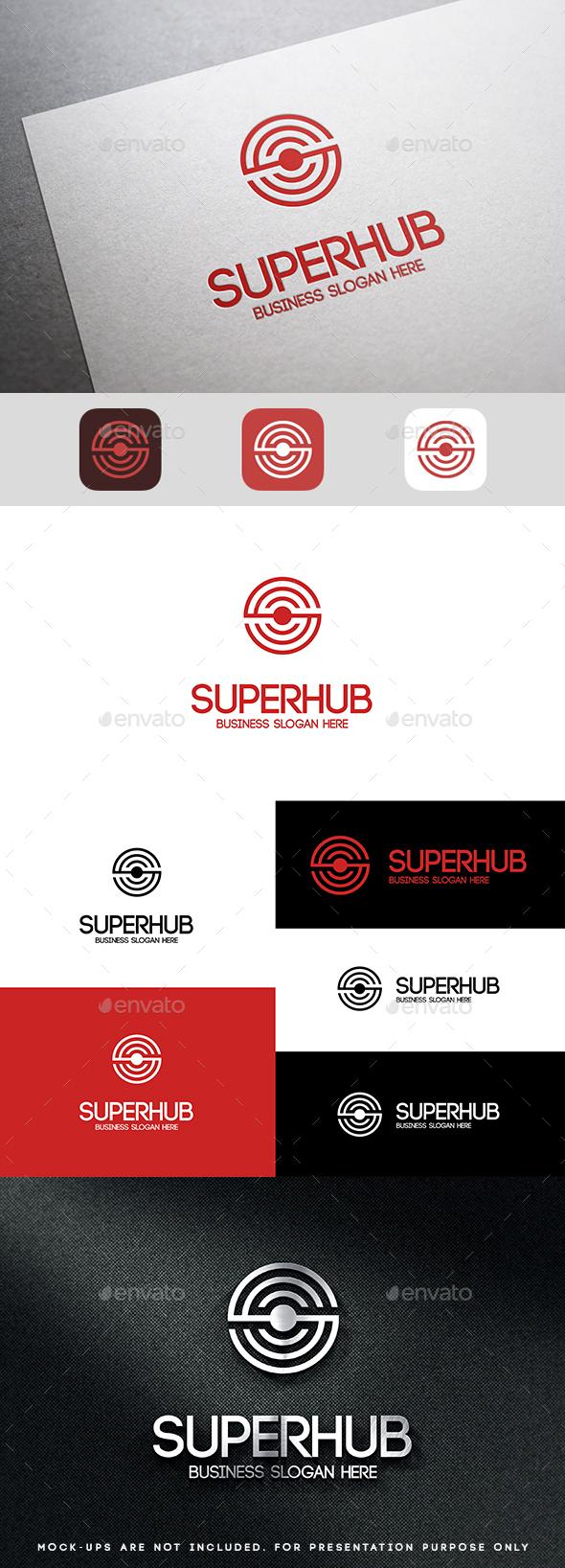 Super Hub Circle Abstract Symbol Logo S