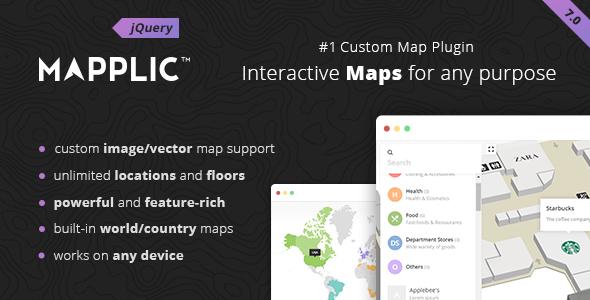 Mapplic - niestandardowa interaktywna wtyczka jQuery do mapy