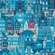 Seamless Pattern Amsterdam Typical Dutch Houses - GraphicRiver Item for Sale
