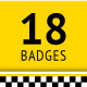 18 Taxi badges - GraphicRiver Item for Sale