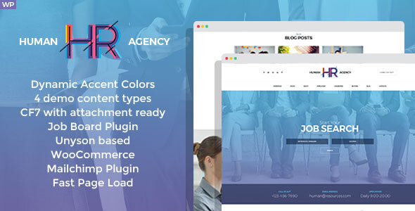 HR Human Consult - Searching & Recruiting WordPress Theme