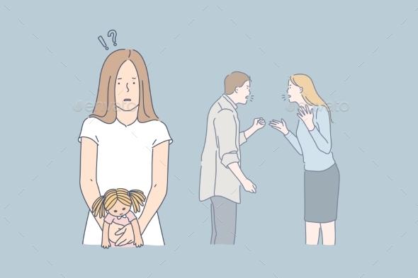 Family Quarrel Stress Conflict Concept