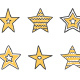 Hand Drawn Yellow Stars - GraphicRiver Item for Sale