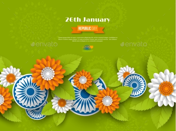 Indian Republic Day Holiday Design