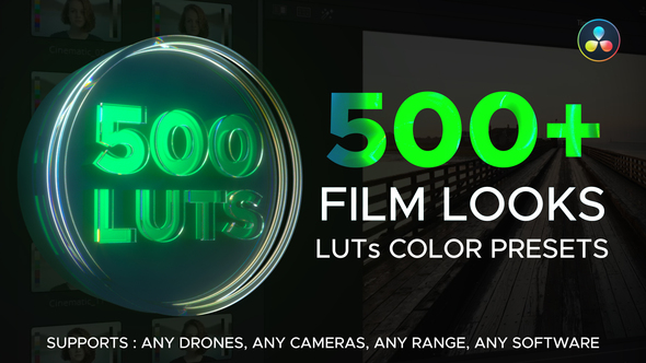 LUT Color Presets for DaVinci Resolve