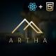 Artha - React Interactive Interior Template - ThemeForest Item for Sale