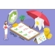 3D Isometric Flat Vector Conceptual Illustration of Dental Insurance Policy and Cost Calculation. - GraphicRiver Item for Sale