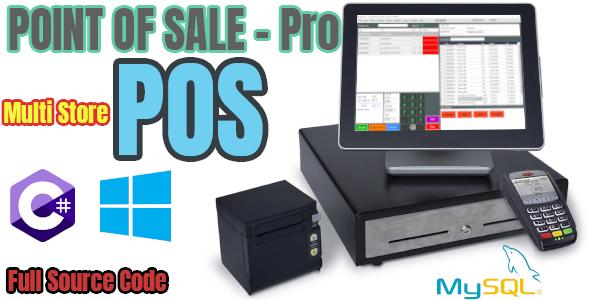 Point Of Sale (POS)  PRO - Multi Store - C# MySQL