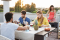 Young friends having barbecue party outdoors - PhotoDune Item for Sale