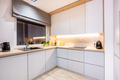 Kitchen furniture in a modern small apartment for rent. - PhotoDune Item for Sale