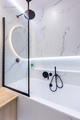Bath in modern small bathroom interior design - PhotoDune Item for Sale