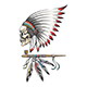 American Indian Chief Skull and Smoking Pipe - GraphicRiver Item for Sale