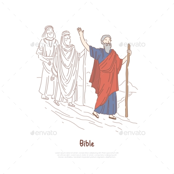 Moses Prophet Legendary Figure Bible Story Myth