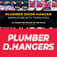 Plumber Door Hanger Marketing kits Templates - GraphicRiver Item for Sale