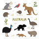 Cute Hand Drawn Set with Australian Animals - GraphicRiver Item for Sale
