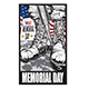 Memorial Day Remember & Honor Flag National Flag Usa Poster Vector Illustrator 02 - GraphicRiver Item for Sale