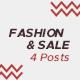 Fashion and Sale Instagram Posts - GraphicRiver Item for Sale