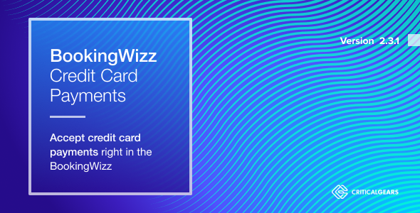 BookingWizz Credit Card Payments