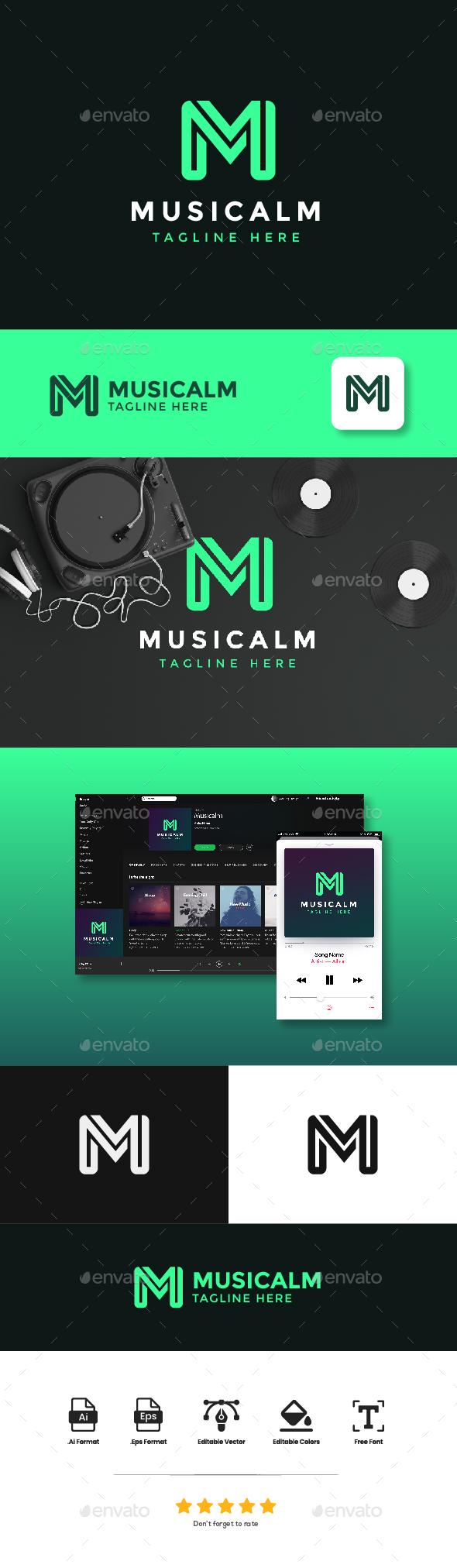Logo Letter M - Musicalm