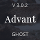 Advant - Modern Ghost Theme for Personal or Professional Blog - ThemeForest Item for Sale