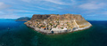 Aerial view of medieval town of Monemvasia located on small island in Lakonia of Peloponnese, Greece - PhotoDune Item for Sale