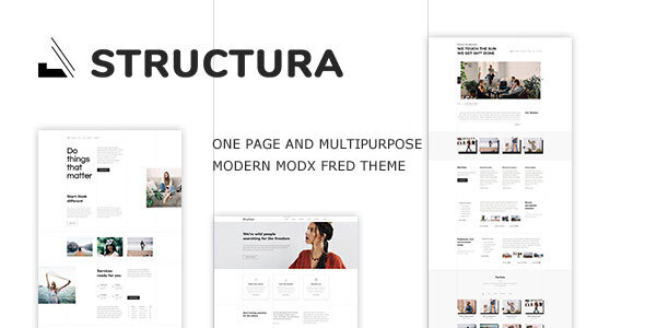 Structura - Minimal One Page MODX Fred Theme