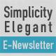 Simplicity Elegant E-Newsletter - GraphicRiver Item for Sale