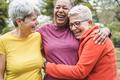 Multiracial senior women having fun together - PhotoDune Item for Sale