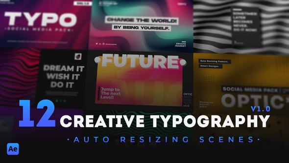 12 Creative Typography Scenes