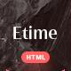 Etime - Blog & Magazine HTML5 Template - ThemeForest Item for Sale