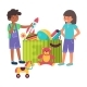 Cheerful Kid Boy Girl Playing Toy Together Box - GraphicRiver Item for Sale