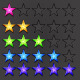 Vector Birght Rating Stars - GraphicRiver Item for Sale